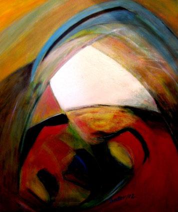 BDL 0208, Acryl auf Leinwand 60 x 50 cm