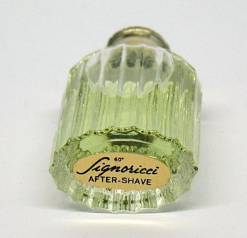 SIGNORICCI : AFTER-SHAVER 7 ML - ETIQUETTE SOUS LA MINIATURE