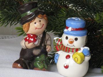 Rauchfangkehrer und Schneemann