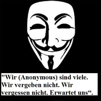 Anonymous erwartet uns Logo