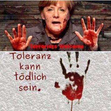 Merkel tötet Flüchtlingskrise Täter Opfer Umkehr Verharmlosung Zuwanderung Migration Überfremdung