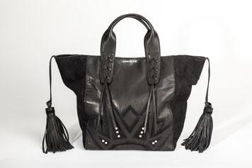 Mini Shoppers aus schwarzen Leder hochwertig verarbeitet von EMMA MY LOVE