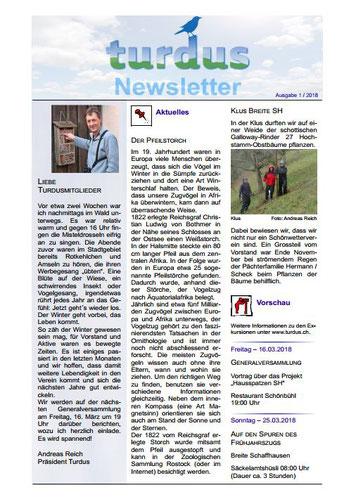 Newsletter 1/2018