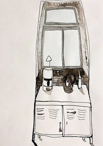 Nina Gross Kunst Zeichnung art Wohnräume