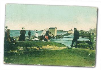 Postkarte der Grimmershörnbucht von 1908