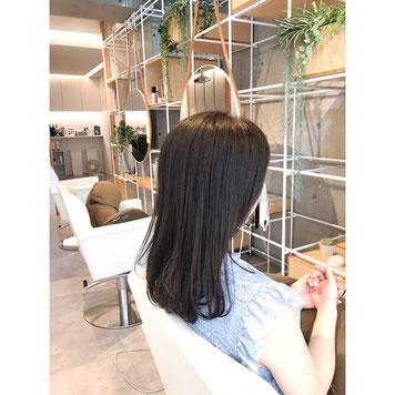 横浜 石川町 美容室 Grantus セミロング ロングスタイル ハーブカラー 艶髪 さらさら