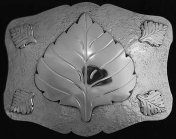 Aspen Leaf Belt Buckle _5leaf
