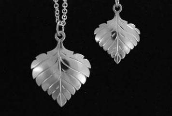 Aspen Leaf Pendants