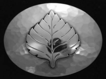 Aspen Leaf belt Buckle _OV
