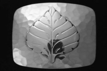 Aspen Leaf belt Buckle _HM