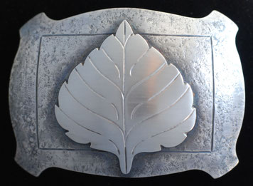 Aspen Leaf belt Buckle _RETRO