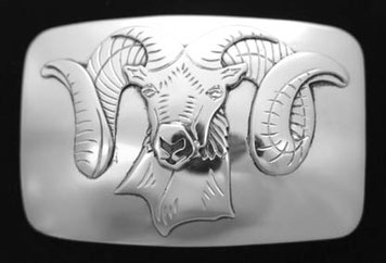 Mountain Sheep Belt Buckle