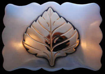 Aspen Leaf Belt Buckle _SCAL