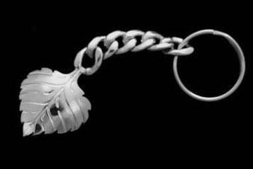 Aspen Leaf Key Chain
