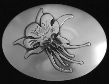 Columbine Belt Buckle