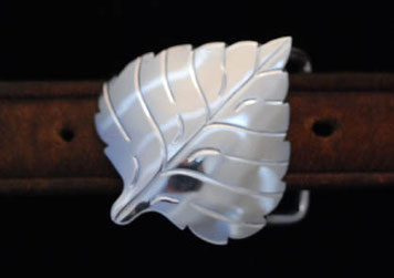 Aspen Leaf Belt Buckle  _sideLeaf
