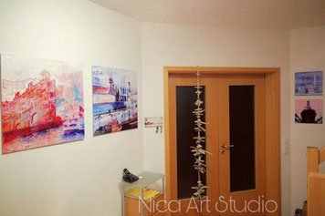 A corridor of a customer with my works.