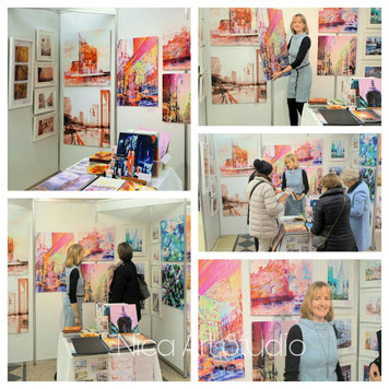 The Alsterart was very nice and successful. My booth was really crowded.