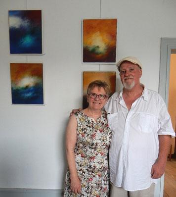 avec la peintre élisabeth valle