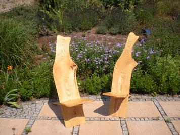 zwei Steckstühle aus Esche