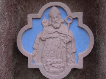 St. Nikolaus und die drei Scholaren (Renovierung durch Bildhauer Dieter Arenz, 2008)