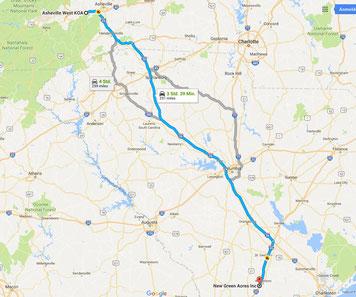 Strecke: Tag 4 (Google Maps)