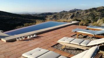 Fantastischer Ferblick von Bio-Finca/Ferienhaus ohne WLAN in Spanien an der Costa Blanca im ruhigen Hinterland, nah an Alicante und am Mittelmeer