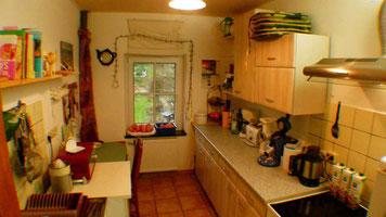 Küche mit Eßplatz für 2 Personen