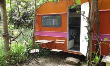 Wohnwagen als Ferienhaus