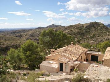 historische Finca, Ferienhaus mit tollen Fernblick bis nach Alicante und auf das Mittelmeer, absolute Ruhiglage, Alleinlage