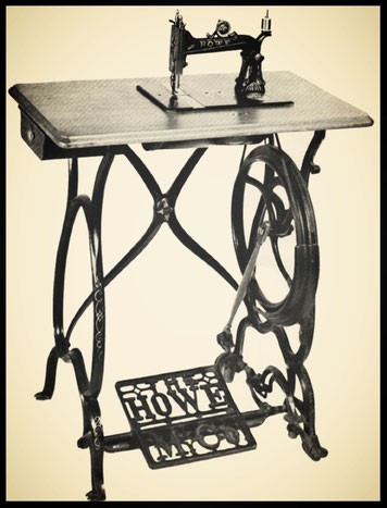 Figure 98.—Howe (Stockwell brothers) machine, 1870. (Smithsonian photo)