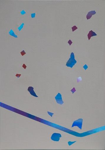 ohne Titel, Acryl auf Leinwand, 50 x 70 cm