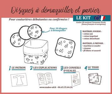 Kit de couture pour disques à démaquiller lavables