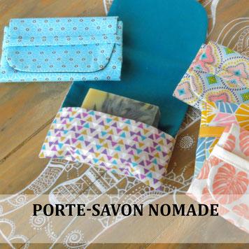porte-savon nomade en tissu