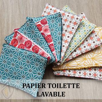 lingette pipi- papier toilette lavable zéro déchet