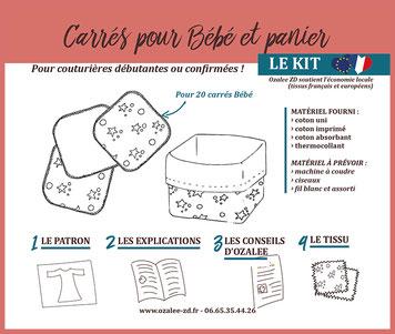 kit de couture carrés pour bébé