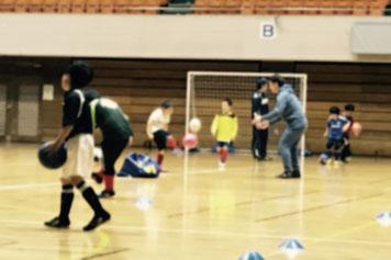 町田市総合体育館での練習風景