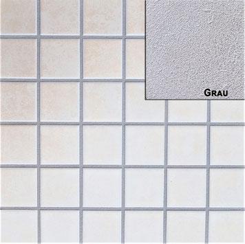 Grauer Fugenmoertel für Wand und Bodenfliesen bestens geeignet für Innen- und Aussenbereich