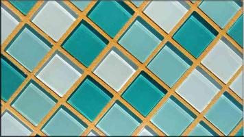 Gelber Mosaikfugenmörtel für Wand- und Bodenmosaikfliesen für Innen- und Außenbereich geeignet