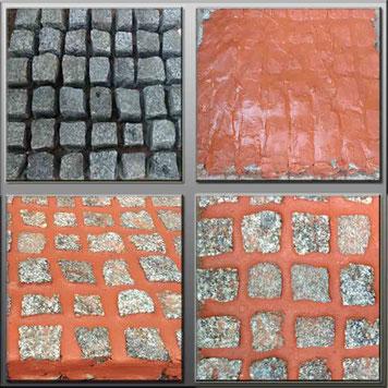 Pflasterfugenmasse Ziegelrot zum verfugen von  Wege und Terrassen, frostsicherer wassserundurchlässige Fugenmasse für breite Fugen Wasserundurchlässig für Terrassen