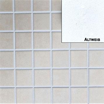 altweisser Fugenmoertel für Wand und Bodenfliesen geeignet für Innen- und Aussenbereich