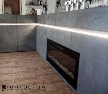 Sichtbeton Optik Wohnzimmer in Niederösterreich und Wien