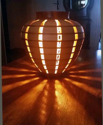 Lampe de salon en segmenté ouvert
