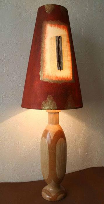 Michel Fournier Tournage sur bois - Lampe