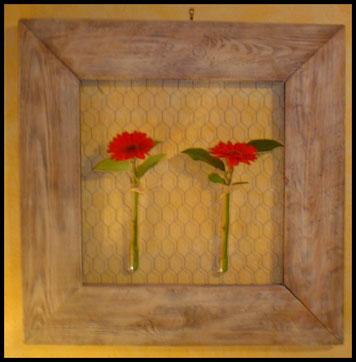 Création d'un tableau floral