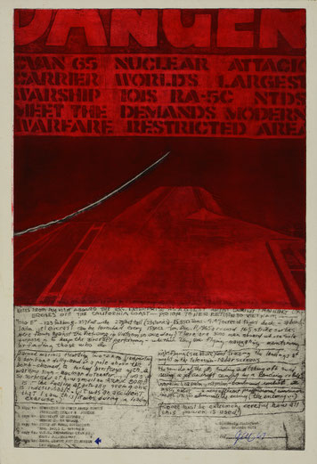 SINCERELY DISTURBED - DANGER (1967) - ETCHING AND AQUATINT - PRINTER: JAMES FRANCIS GILL