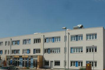 Schulzentrum Ausbildungzentrum Eupen Belgien BlowerDoor Test