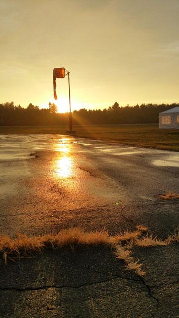 Un soleil couchant.... nous nargue à l'horizon...