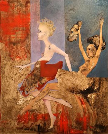 Kleine Tigerjägerinnen Maria Wirth painting