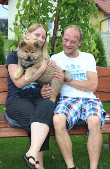 Abschiedsfoto: AMORINO mit seiner neuen Familie ❤
